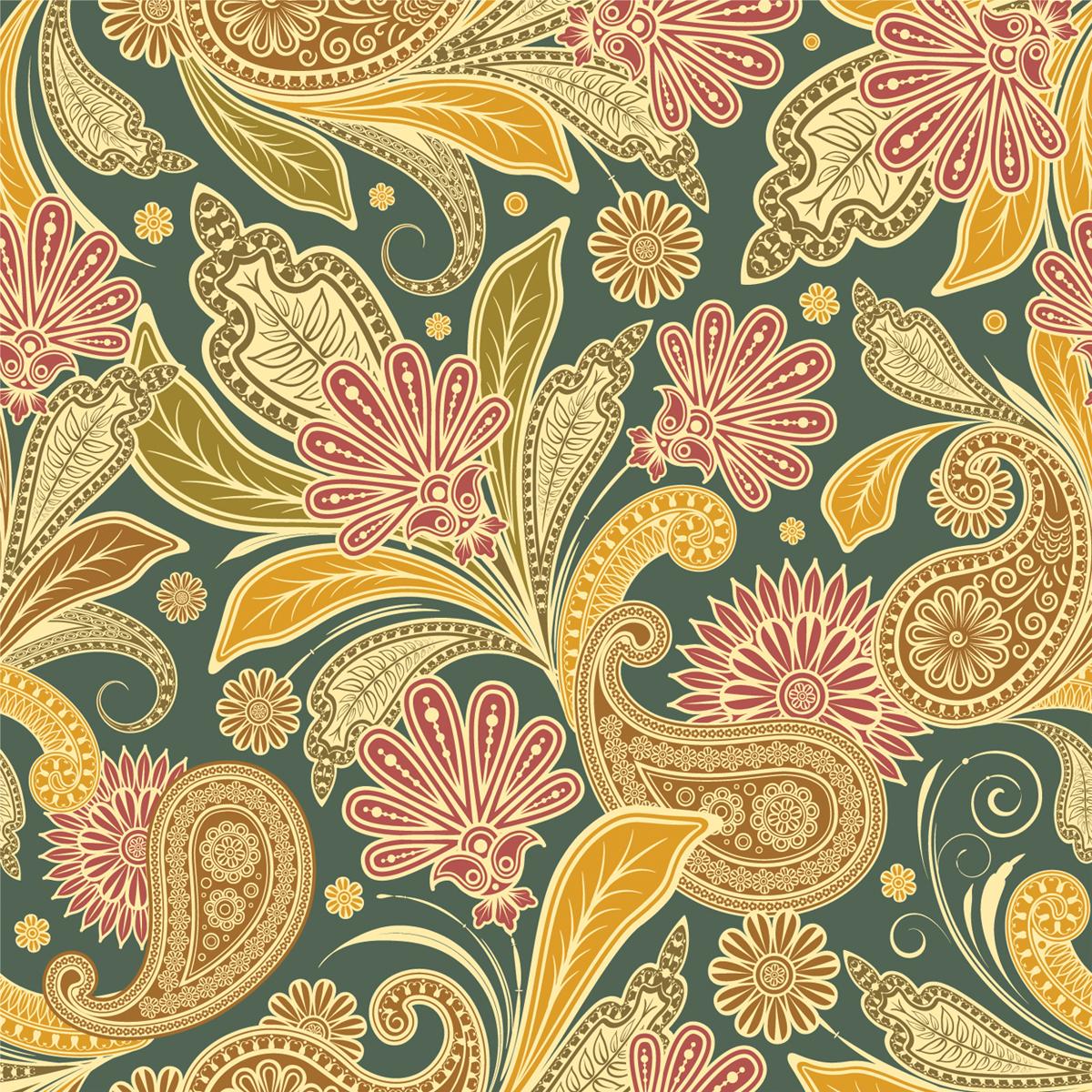Vintage floral design backgrounds flowers orange for Vintage design tumblr
