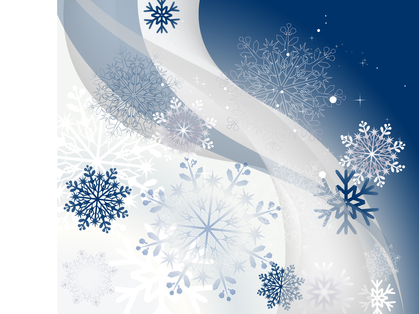 winter background with snowflakes ppt backgrounds - blue, Powerpoint templates