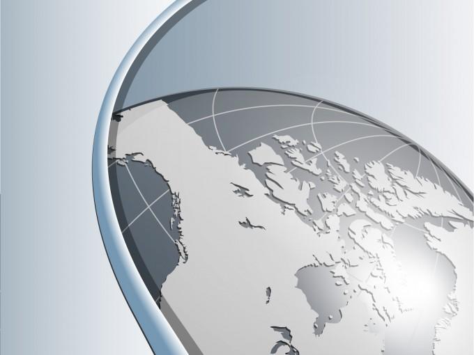 World Grey Business Light Power Slide PPT Backgrounds