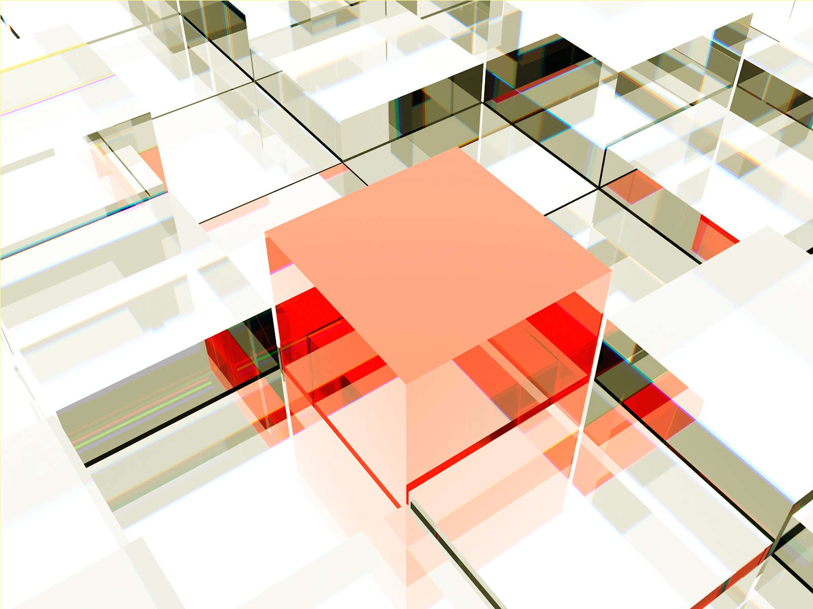 3D Abstract box Backgrounds   3D, Abstract, Grey, Red, White