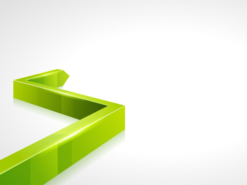 3d Green Line PPT Design