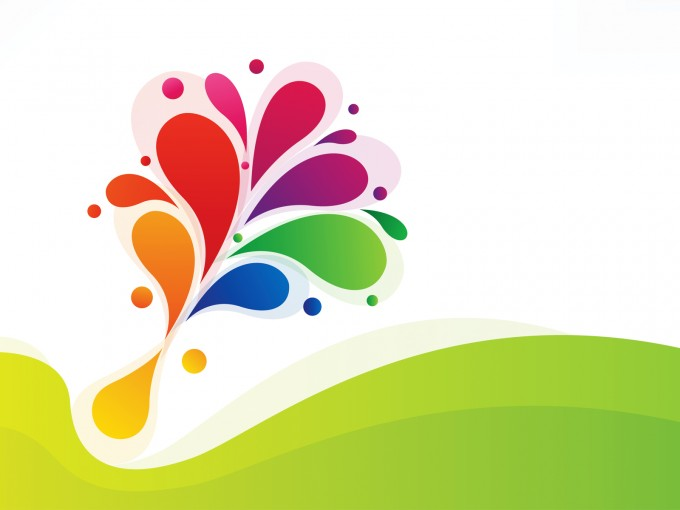 Abstract Colorful Floral Design PPT Backgrounds