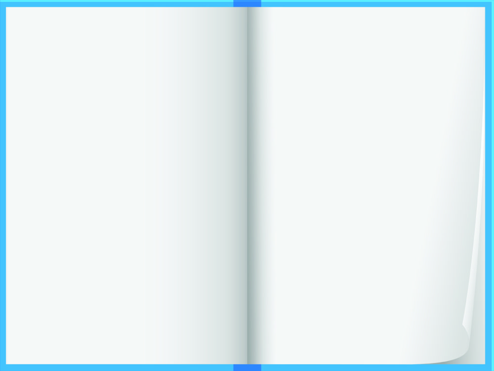 Blue note book design PPT Backgrounds - Blue, Educational