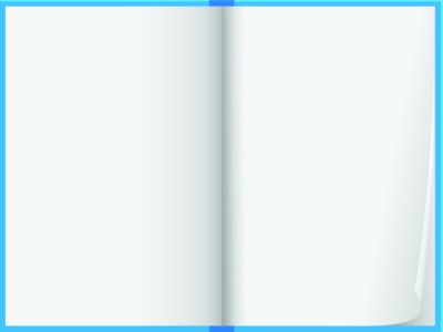 Blue Note Book Vector Design
