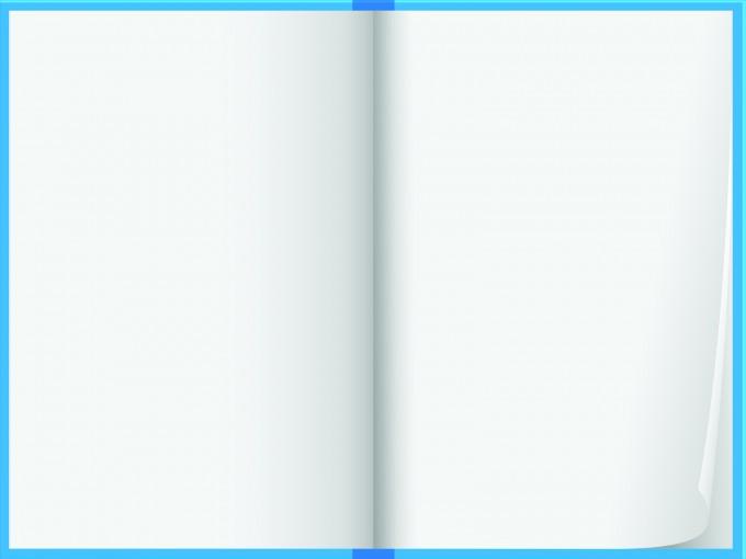Blue note book design PPT Backgrounds