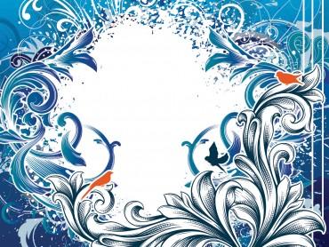 Blue Vintage Design Frame Clipart