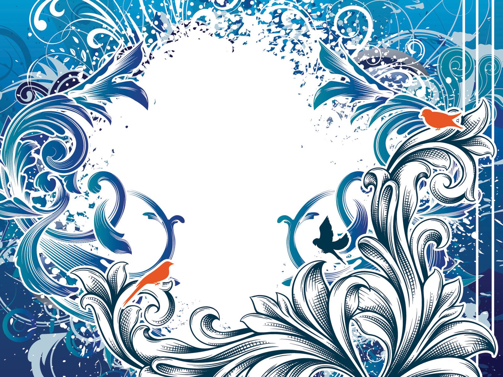 Blue vintage frame backgrounds blue border frames for Frame designs