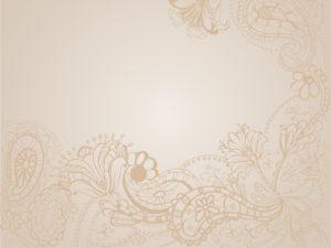 Brown Floral Vintage Background Powerpoint
