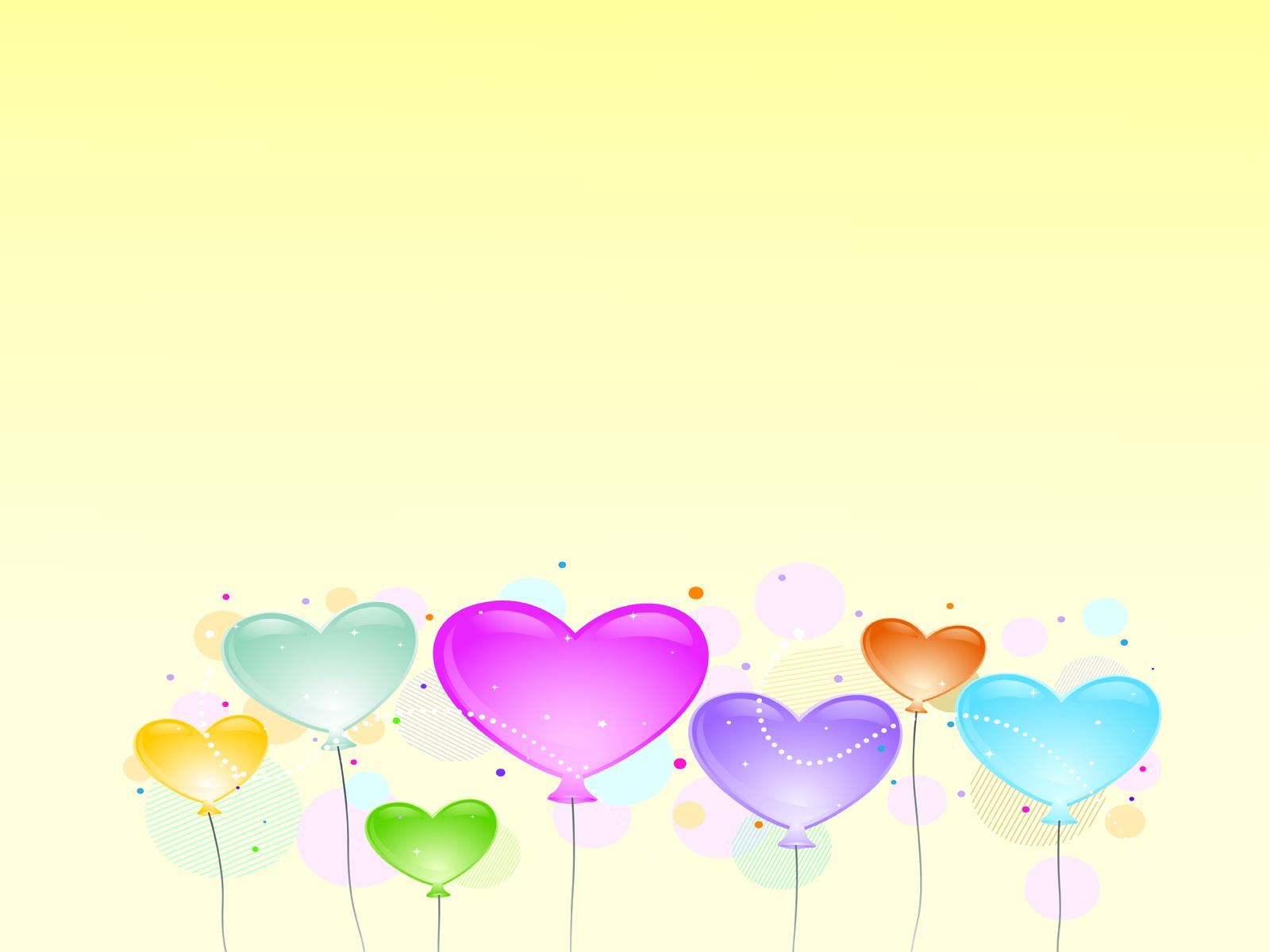 Clip art love balloons ppt backgrounds blue green love pink download background toneelgroepblik Images