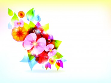 Colorful Flowers Vector Template