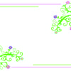 Floral Light Frame PPT Theme