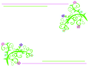 Floral Light Frame PPT Theme
