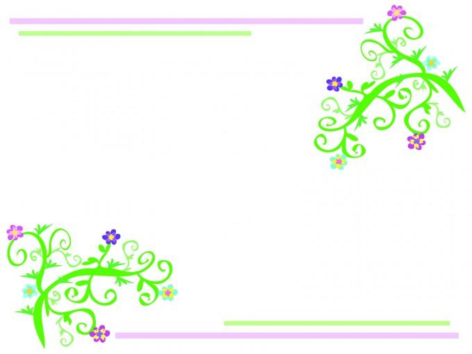 Floral Light Frame PPT Backgrounds