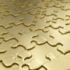 Golden Puzzle Design PPT