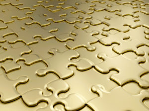 Golden Puzzle Design PPT