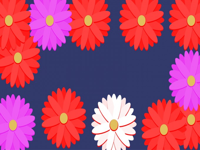 Red and Pink Flower PPT Backgrounds