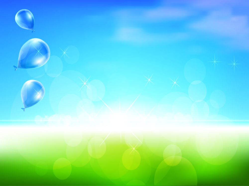 sweet dream balloons backgrounds blue design green nature white ppt backgrounds. Black Bedroom Furniture Sets. Home Design Ideas
