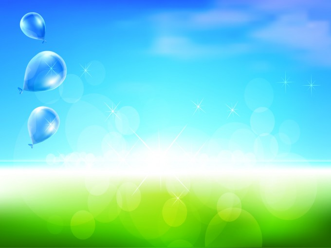 Sweet Dream Balloons PPT Backgrounds