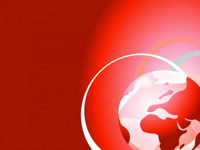 The red world Illustration PPT Backgrounds