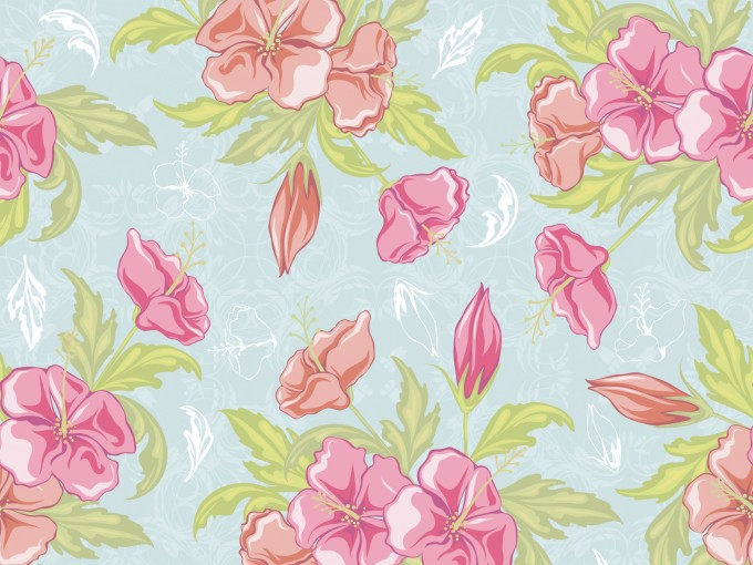Vintage Seamless Flowers PPT Backgrounds