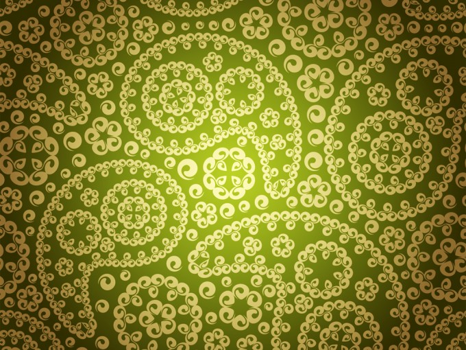 Vintage floral seamless pattern PPT Backgrounds
