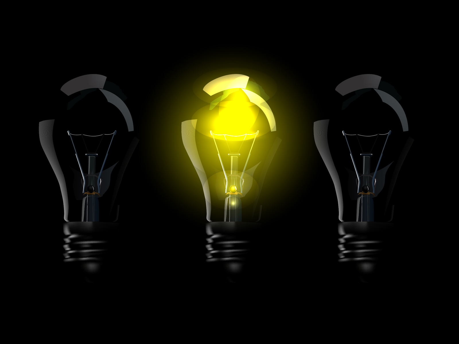 Yellow Lamps PPT Backgrounds