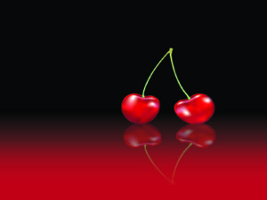 Red cherries powerpoint background
