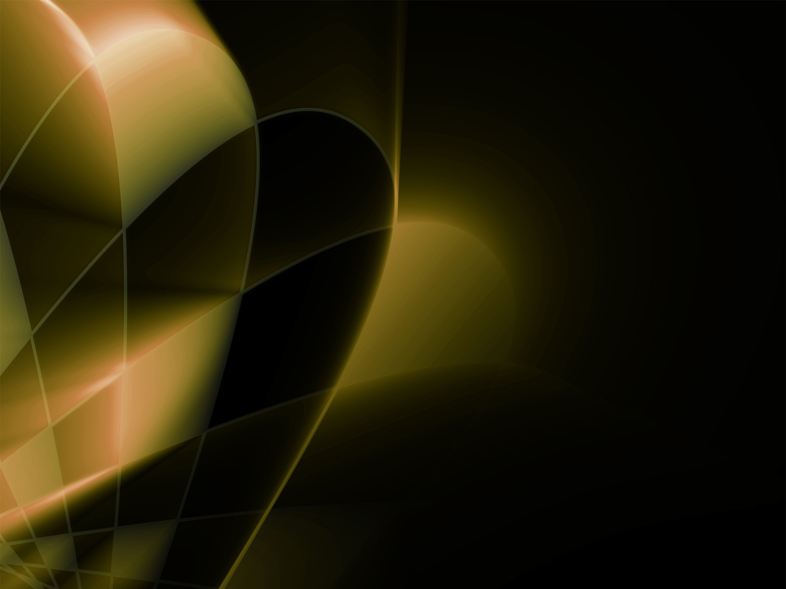 3d Abstract Gold Ppt Backgrounds 3d Black Yellow