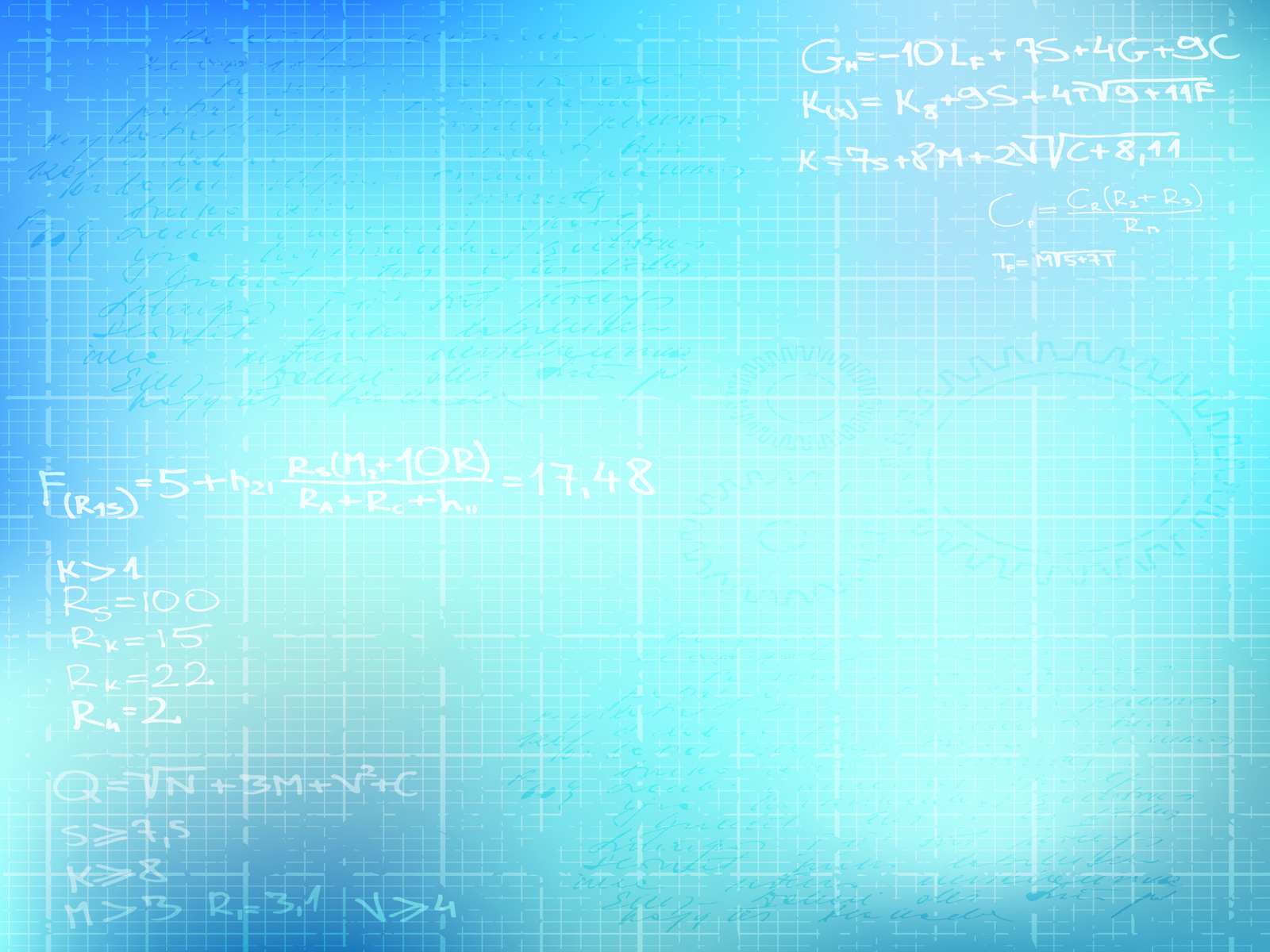 Basic Math Backgrounds Blue Educational White Templates Free