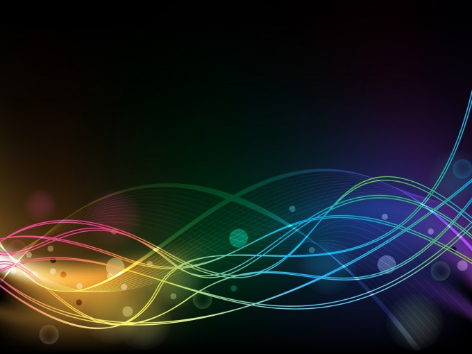 Black line rainbows PPT Backgrounds