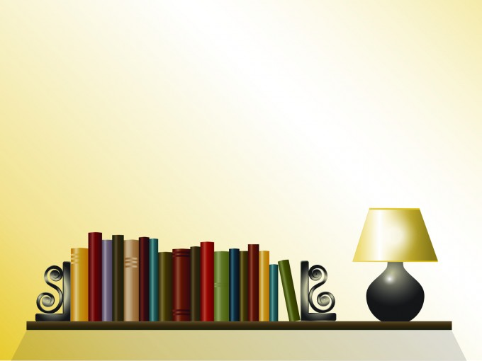 Book Shelf Powerpoint PPT Backgrounds