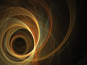 Colored spiral lines powerpoint background