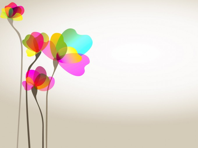 Sweet Colorful Flower PPT Backgrounds