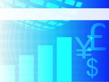 Financial blue chart