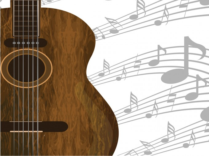 Guitar and music PPT Backgrounds