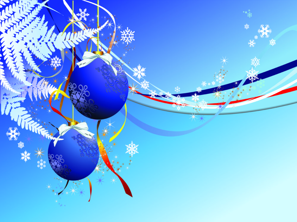 Holiday New Year Powerpoint Design PPT Backgrounds - Blue ...
