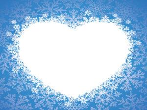 Love Winter Heart PPT Background