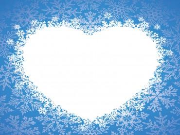 Love winter heart