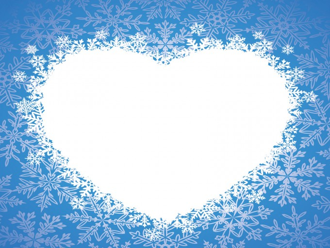 Love winter heart PPT Backgrounds