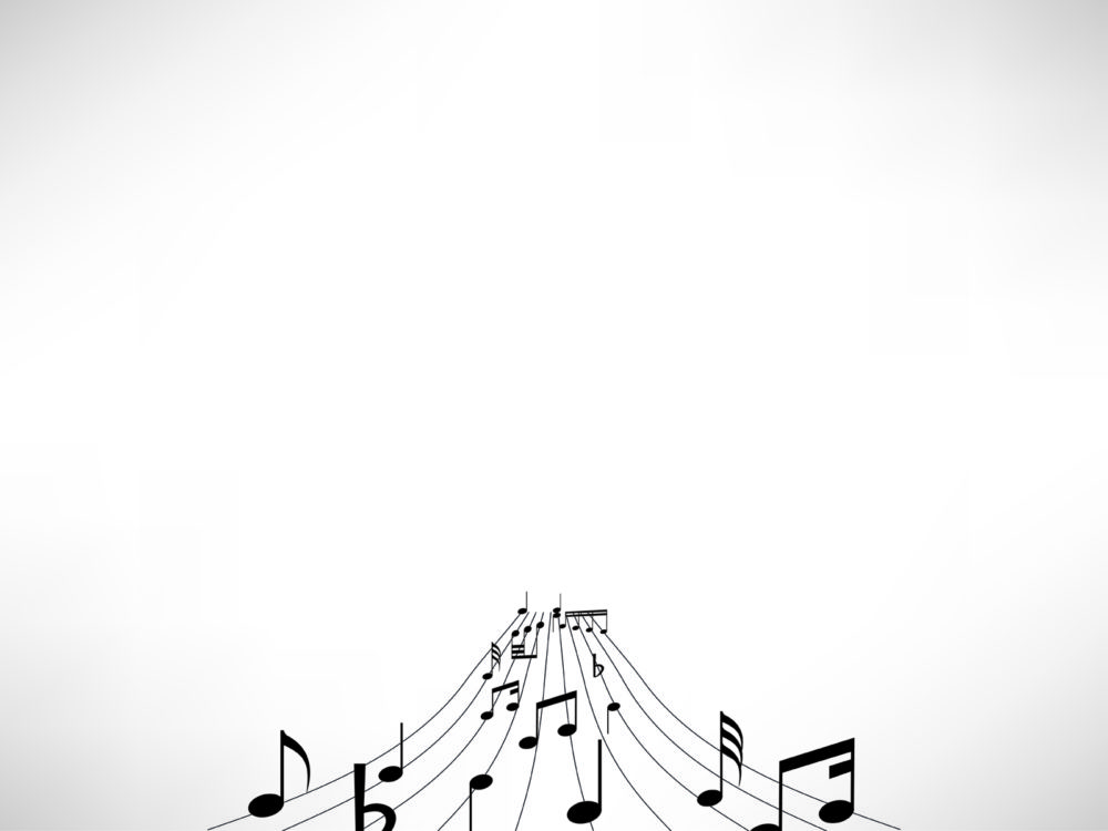 music notes powerpoint template backgrounds black