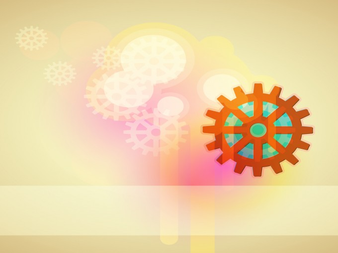 Turning disks powerpoint PPT Backgrounds