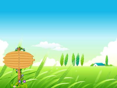 Village summer landscape backgrounds