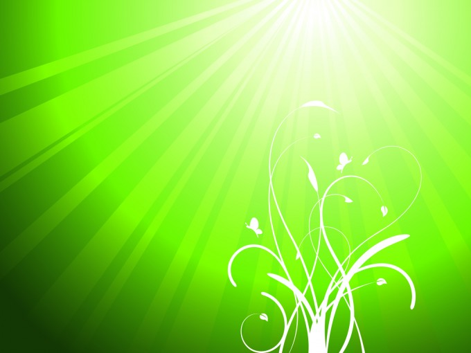 White ivy green PPT Backgrounds