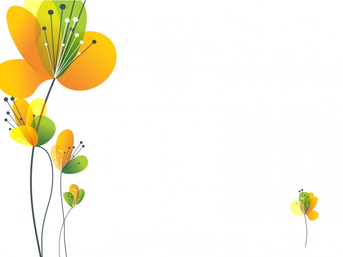 Yellow Spring flower ppt PPT Backgrounds