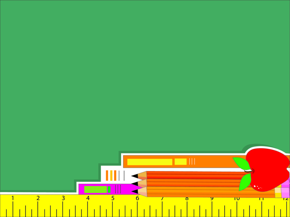 Education Tool Package Backgrounds Educational Green Orange Pink Red White Yellow Ppt