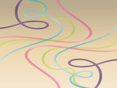 Abstract Dancing Lines PPT Background
