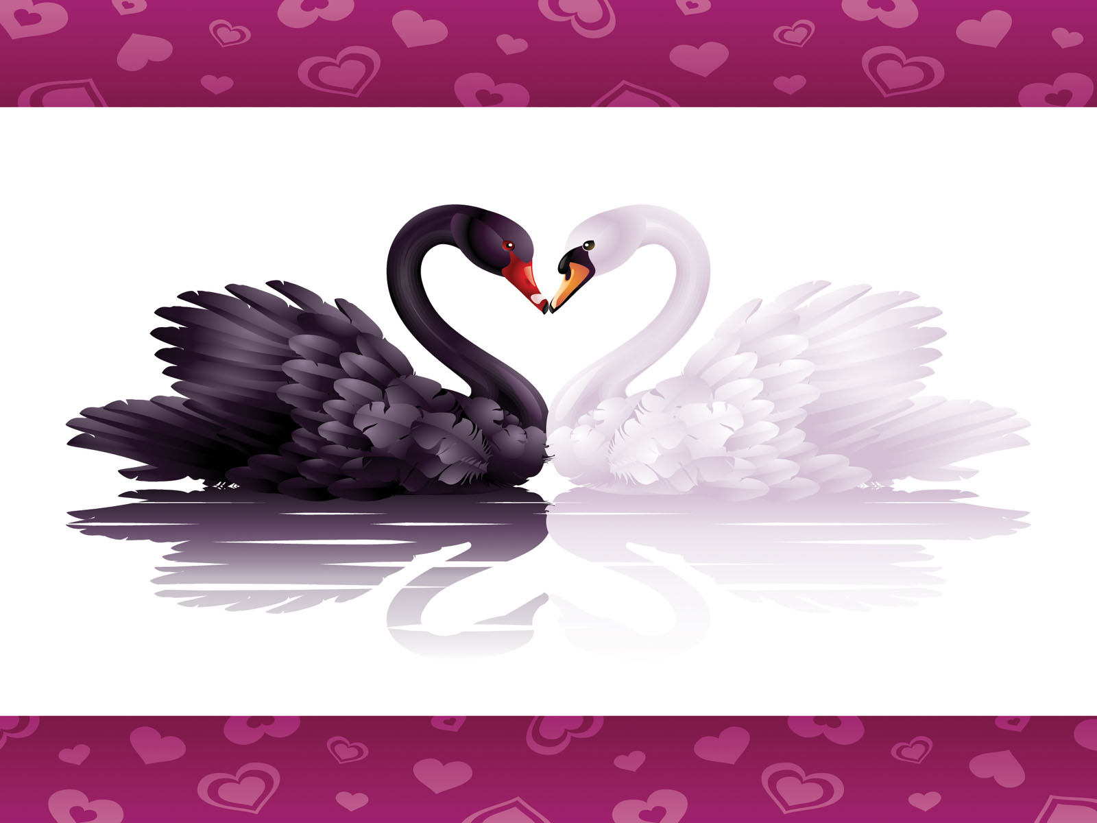 Swans Love Powerpoint Background