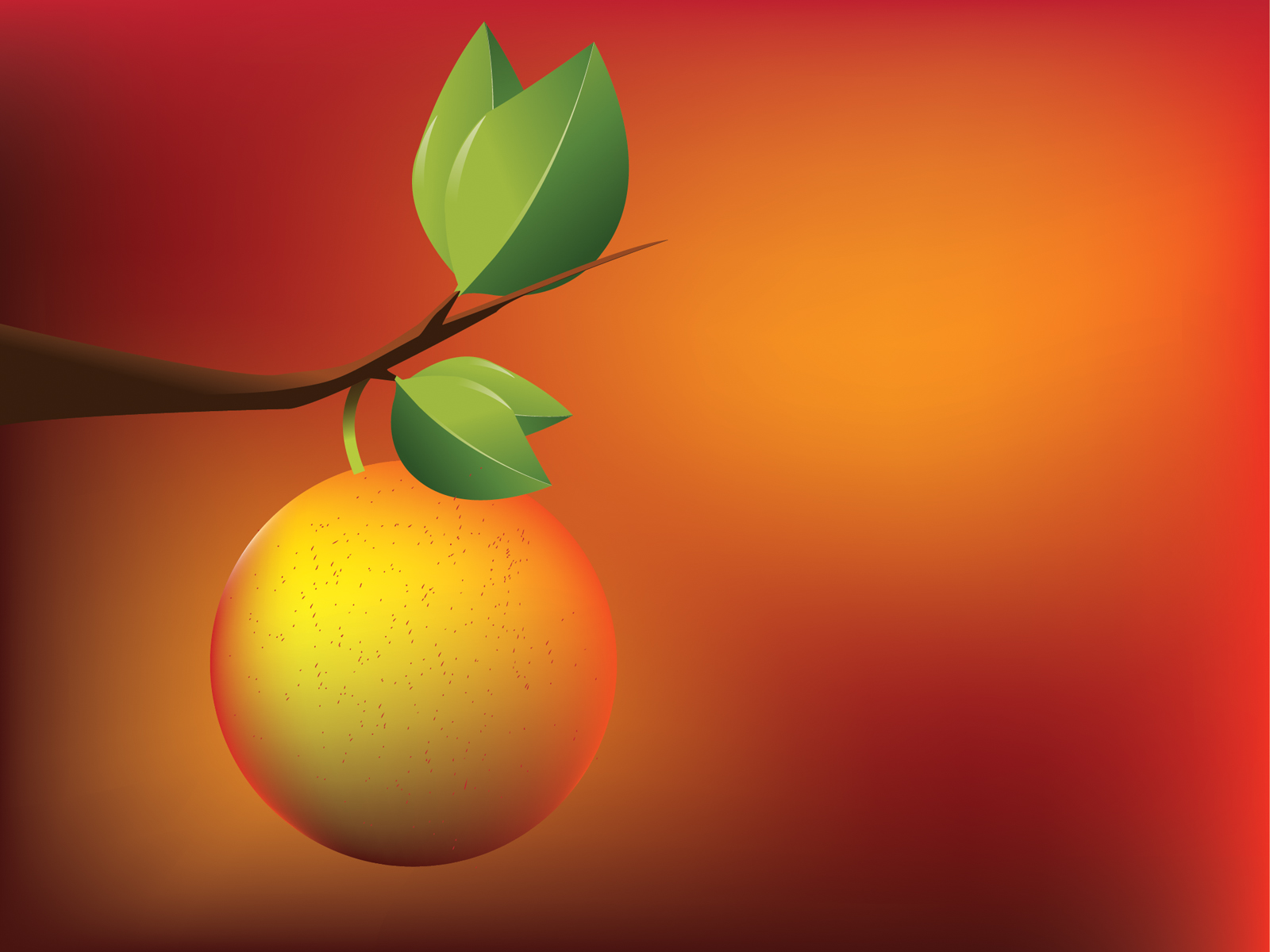 Apricot orange powerpoint templates