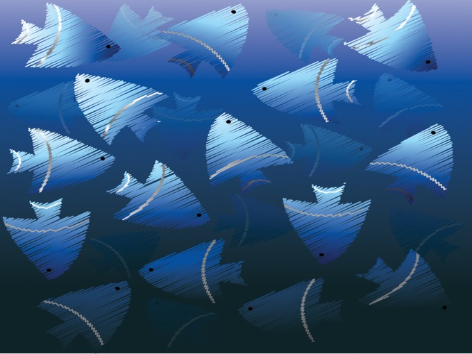 Blue Fish Powerpoint Animals Design PPT Backgrounds