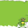 Cartoon Painter Frog Powerpoint Backgrounds